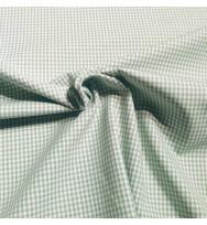 Popeline Webkaro klein green bay/weiß