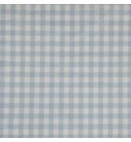 Popeline Webkaro cloudblue/weiß