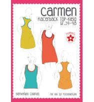 Schnittmuster Racerback-Shirt/-Kleid Carmen