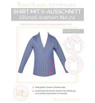 Schnittmuster Damen-Shirt mit V-Ausschnitt