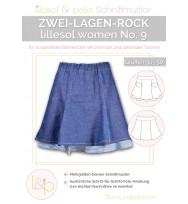 Schnittmuster Women Zwei-Lagen-Rock