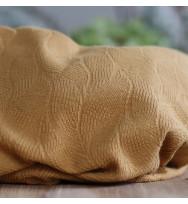 Leaf Jacquard dry mustard
