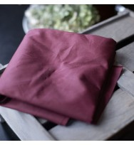 Dry Waxed Organic Cotton wine red