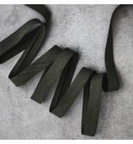 Viskose-Schrägband khaki