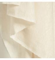 Reststück 50 cm Feiner Leinenjersey creamy white