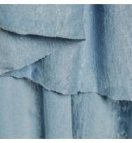 Feiner Leinenjersey faded blue