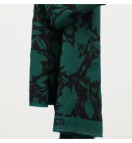 Leia Viskose-Crepe Floral Shade bottle green
