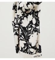 Leia Viskose-Crepe Floral Shade creamy white