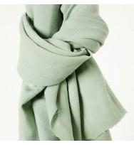 Reststück 104 cm Nisa Soft Leinen sage green