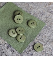 Knopf Curb Cotton 18 mm olive green