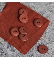 Knopf Curb Cotton 18 mm sienna